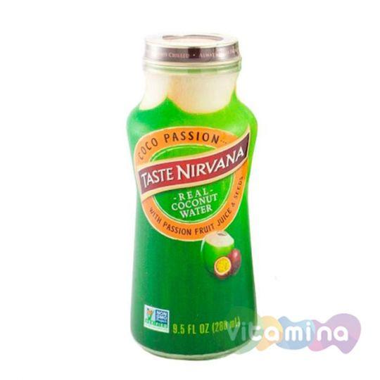 Натуральная кокосовая вода Taste Nirvana с мякотью Маракуйя