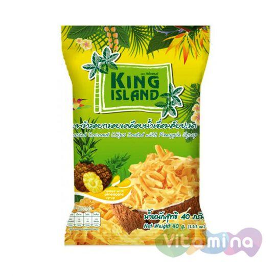 Кокосовые чипсы с ананасом, 40 гр