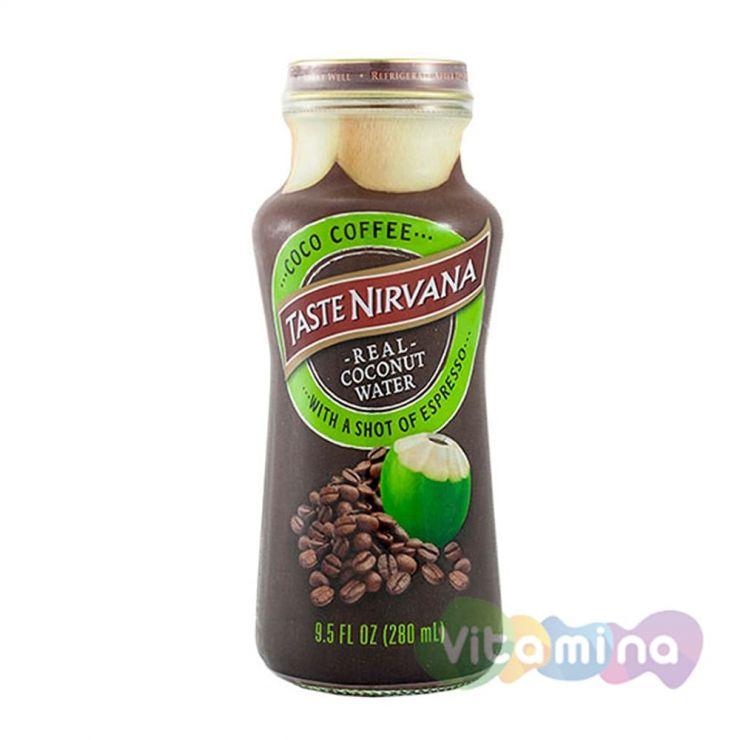 """Натуральная кокосовая вода """"Taste Nirvana"""" с шотом эспрессо"""