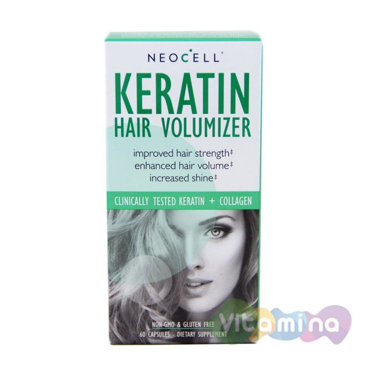 Кератин для волос - Keratin Hair Volumizer 60 капсул
