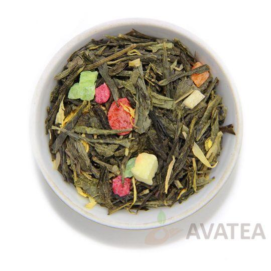 Зеленый чай с персиком, 100г