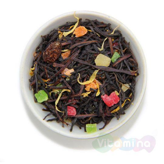 Черный чай с персиком - Сочный персик, 100г