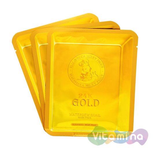 Elizavecca Маска для лица улиточная с золотом