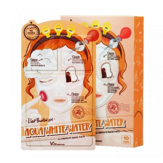 Elizavecca 3-шаговая маска для лица увлажняющая 3-step aqua white water mask pack